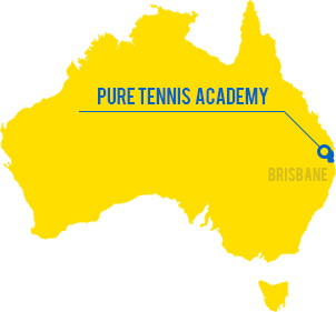 pure tennis acadmy の地図